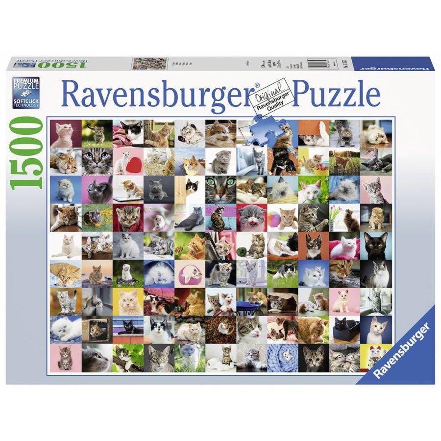 99 Chats - puzzle de 1500 pièces-2