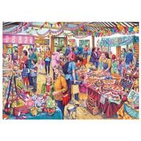 thumb-Tombola in het dorp - puzzel van 1000 stukjes-1