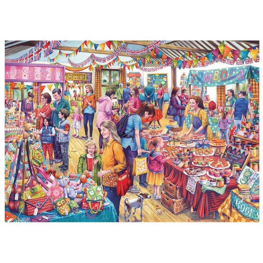 Tombola in het dorp - puzzel van 1000 stukjes-1