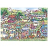 Gibsons Caravan Chaos - jigsaw puzzle of 1000 pieces
