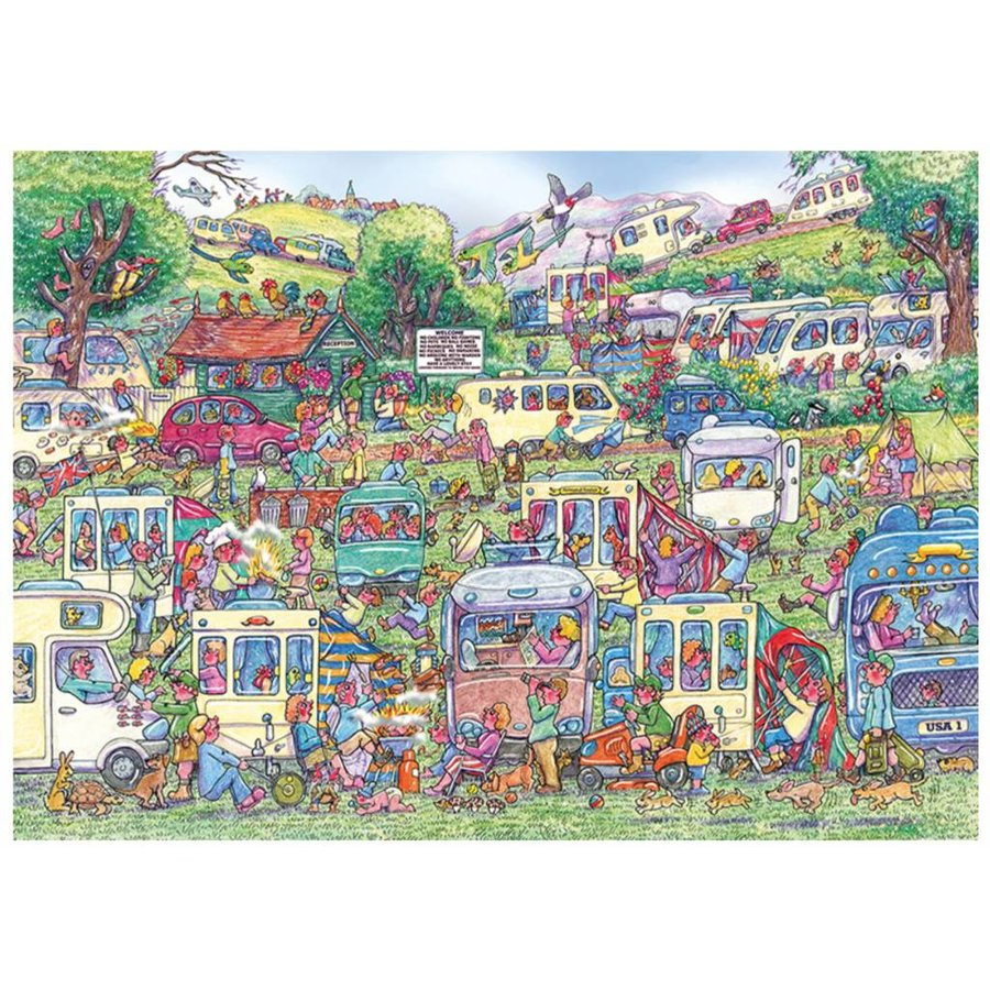Caravan Chaos - jigsaw puzzle of 1000 pieces-1