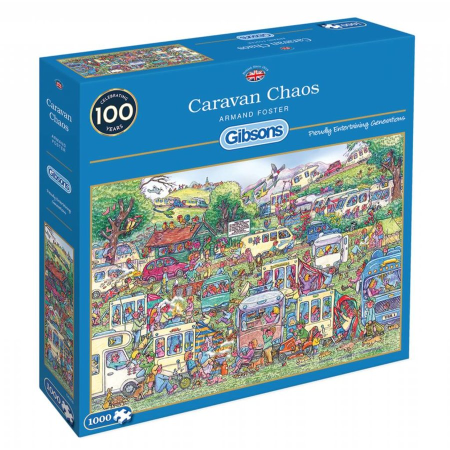 Caravan Chaos - jigsaw puzzle of 1000 pieces-2
