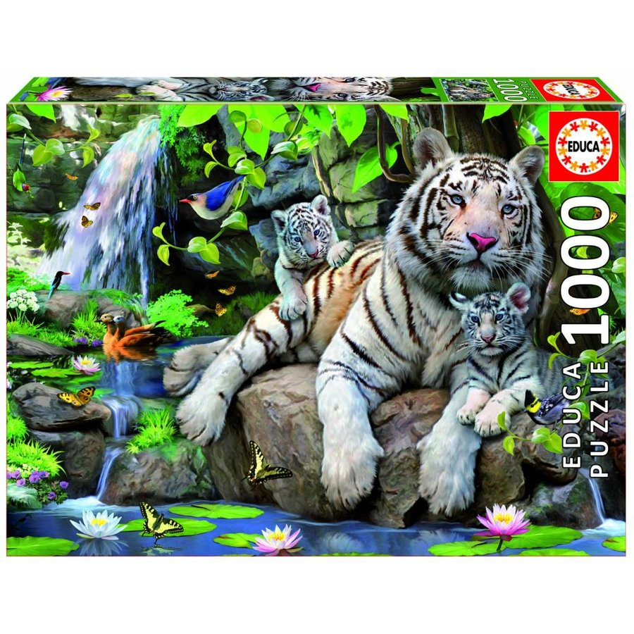 White Bengal tigers - 1000 pieces-2