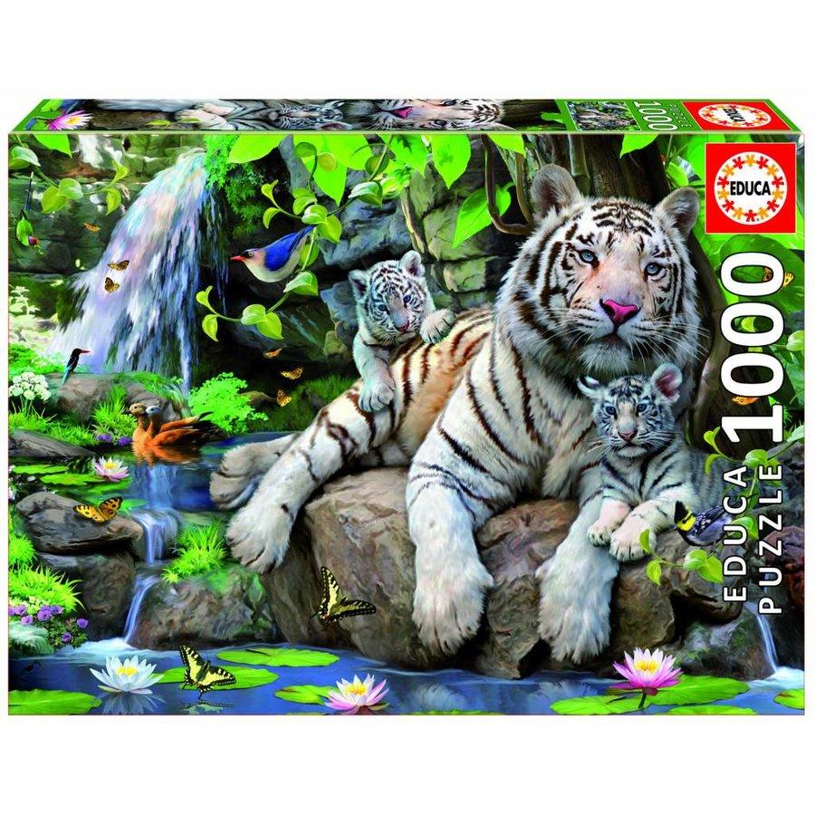 Witte Bengaalse tijgers - 1000 stukjes-2