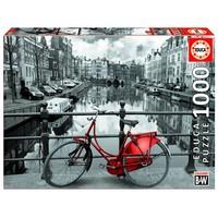 thumb-bicyclette rouge à Amsterdam, 1000 pièces-2