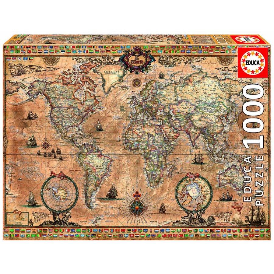 Antieke wereldkaart - 1000 stukjes-2