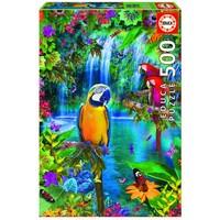 thumb-Papegaaien in de tropen - puzzel van 500 stukjes-2