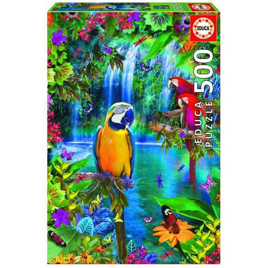 Papegaaien in de tropen - puzzel van 500 stukjes-2