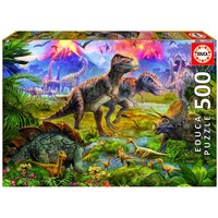 thumb-Dinosaurussen vergadering - puzzel van 500 stukjes-2