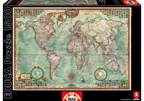 Educa World map - 1500 pieces