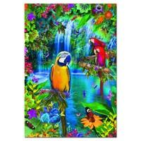 thumb-Papegaaien in de tropen - puzzel van 500 stukjes-1