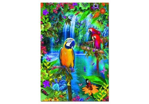 Educa Papegaaien in de tropen - 500 stukjes