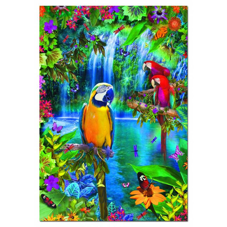Perroquets sous les tropiques - 500 pièces de puzzle-1