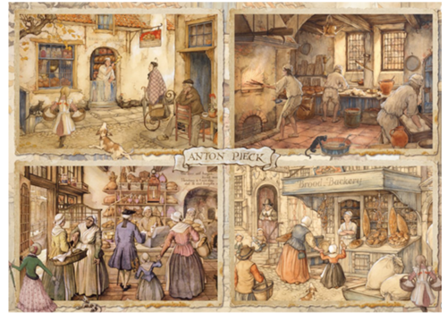 Bakers - Anton Pieck - 1000 pieces