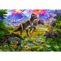thumb-Dinosaurussen vergadering - puzzel van 500 stukjes-1