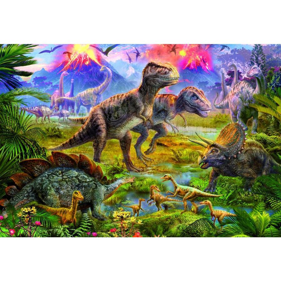 Dinosaurussen vergadering - puzzel van 500 stukjes-1