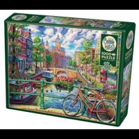 thumb-Canal d'Amsterdam - puzzle de 1000 pièces-2