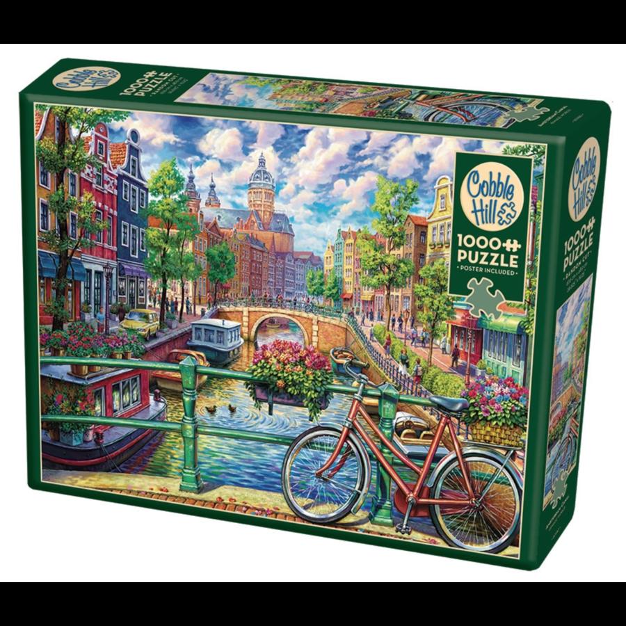 Canal d'Amsterdam - puzzle de 1000 pièces-2