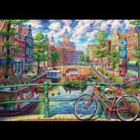 thumb-Canal d'Amsterdam - puzzle de 1000 pièces-1