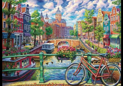 Gracht in Amsterdam - 1000 stukjes
