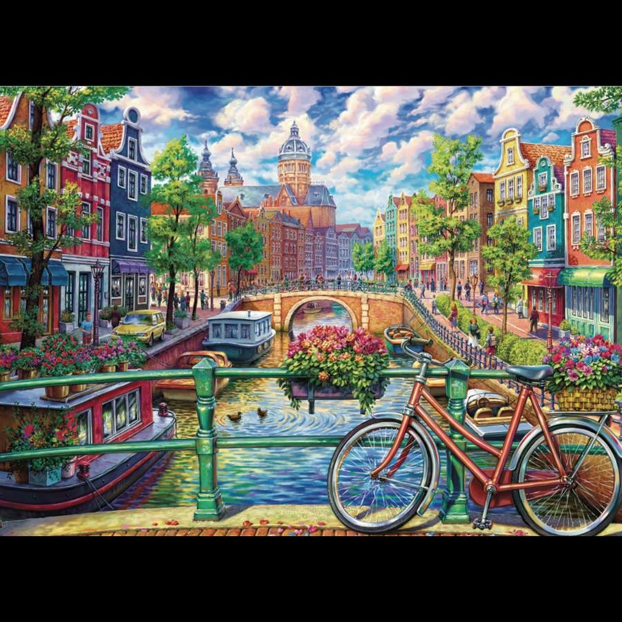 Canal d'Amsterdam - puzzle de 1000 pièces-1