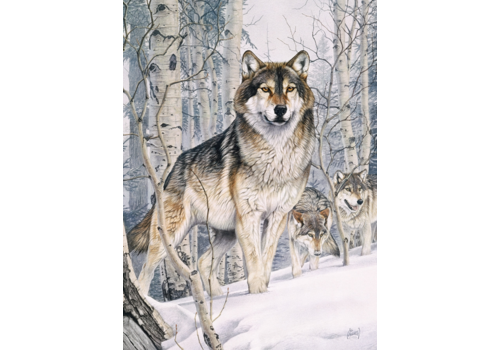 Wolves on a hunt - 1000 pieces