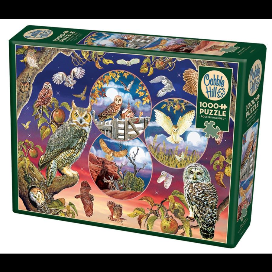 Magische uilen - puzzel van 1000 stukjes-2