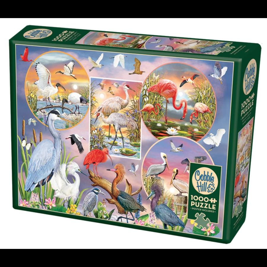 Magie des oiseaux d'eau  - puzzle de 1000 pièces-2