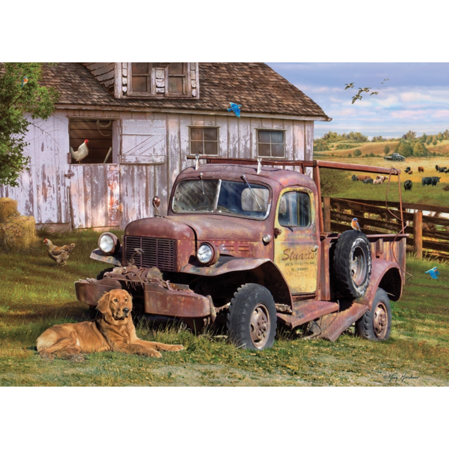 Pick-up truck - puzzel van 1000 stukjes-1
