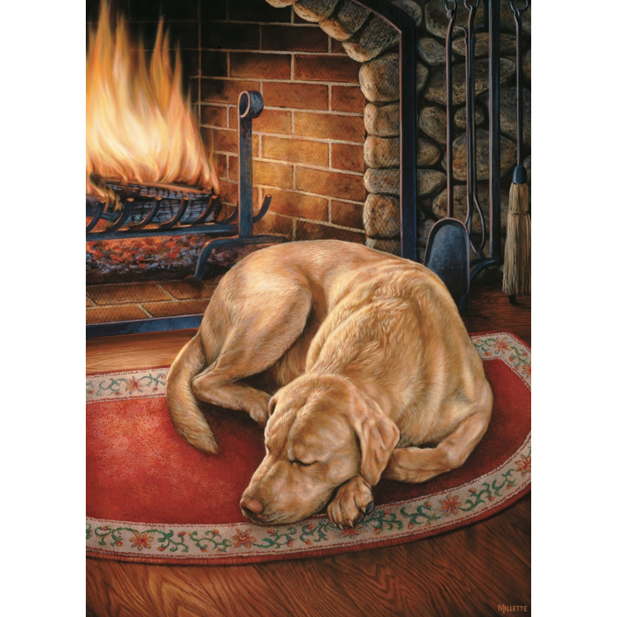 Thuis is waar de hond is - puzzel van 1000 stukjes-1