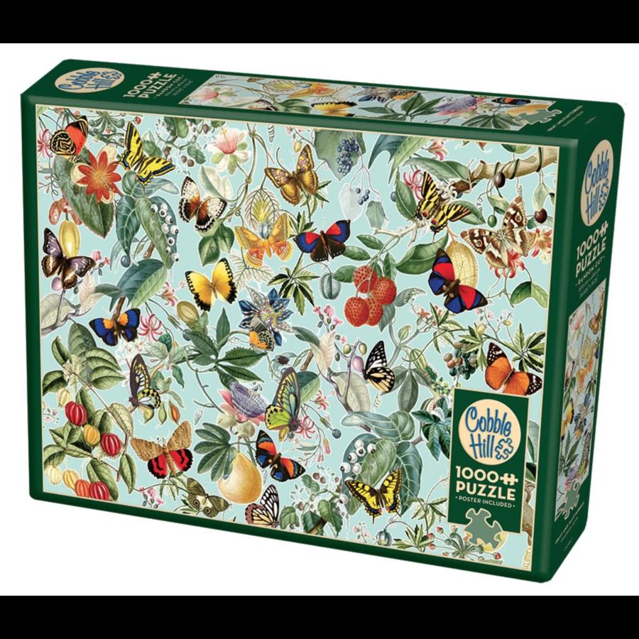 Fruit en vlinders - puzzel van 1000 stukjes-2
