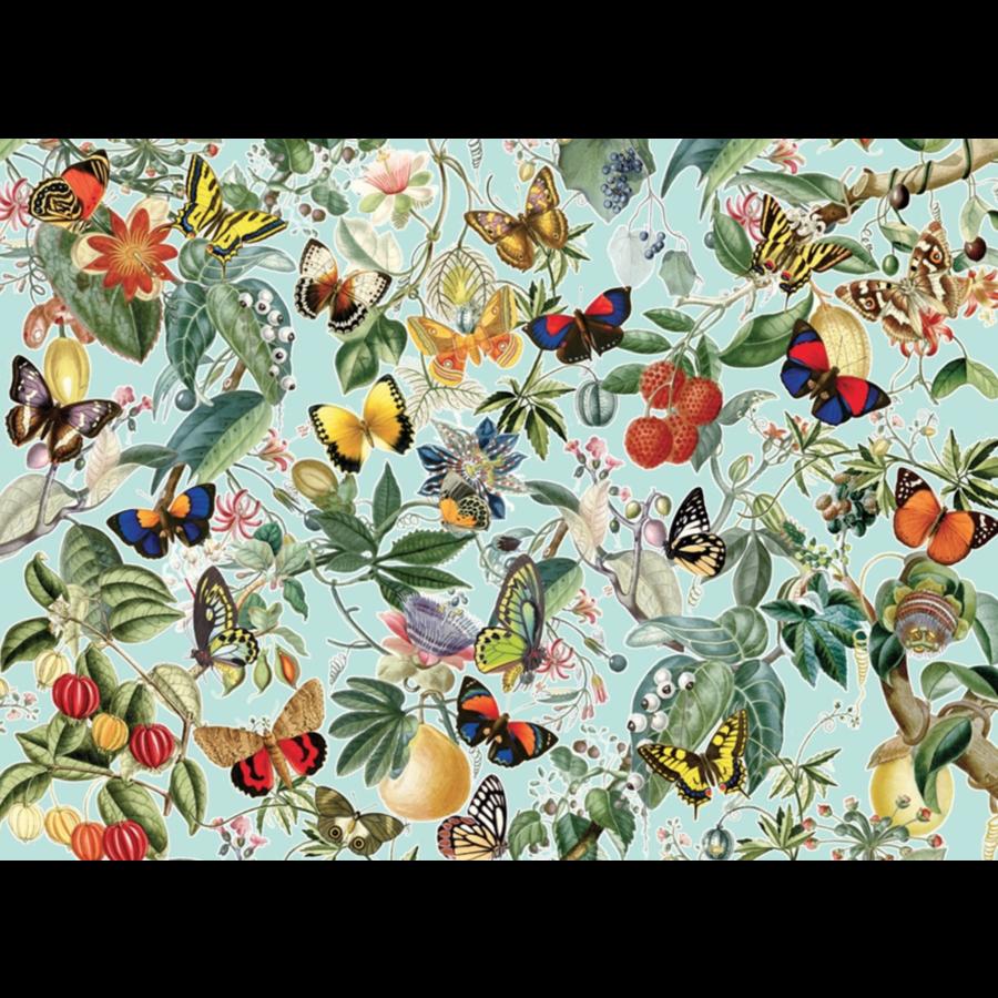 Fruit en vlinders - puzzel van 1000 stukjes-1