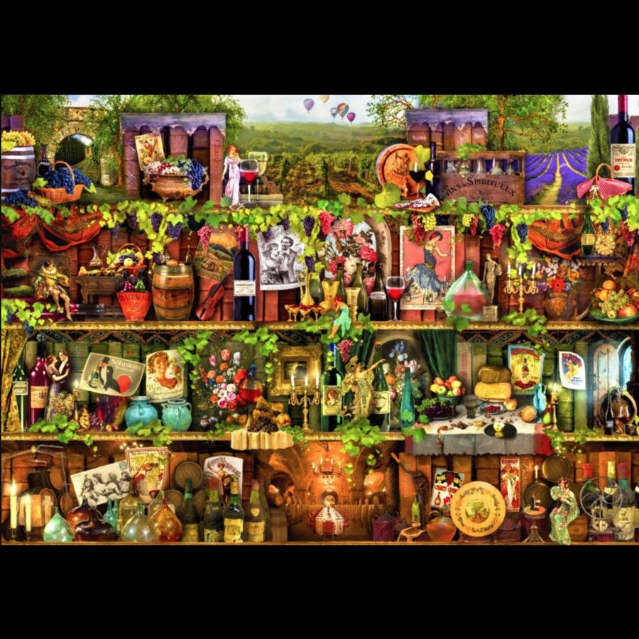 Wijnkast - puzzel van 2000 stukjes-1