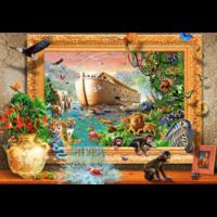 thumb-Arche de Noé encadrée - puzzle de 1500 pièces-1