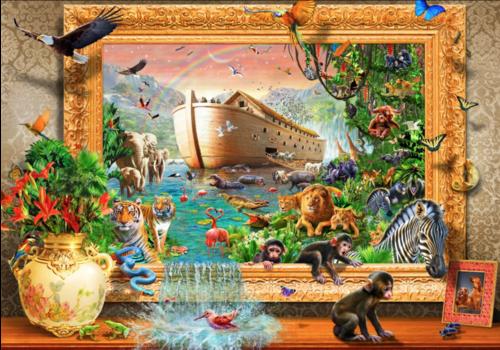 Ark van Noah ingekaderd  - 1500 stukjes