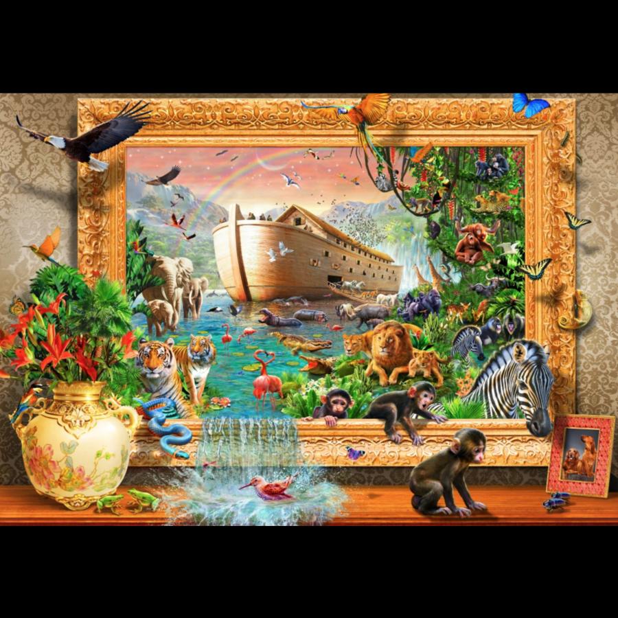 Arche de Noé encadrée - puzzle de 1500 pièces-1