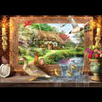 thumb-Leven rond de cottage - puzzel van 1500 stukjes-1