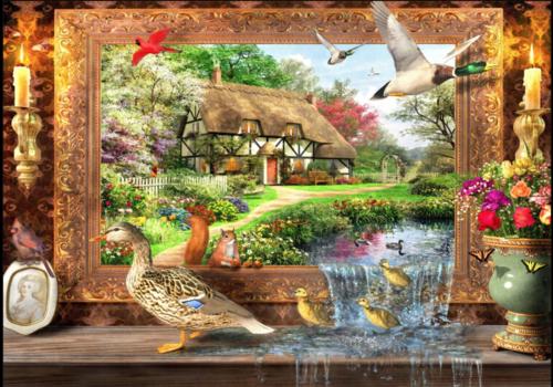 Bluebird Puzzle La vie autour du gîte- 1500 pièces