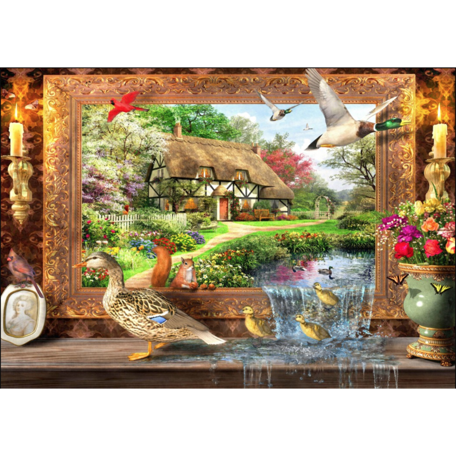 La vie autour du gîte - puzzle de 1500 pièces-1