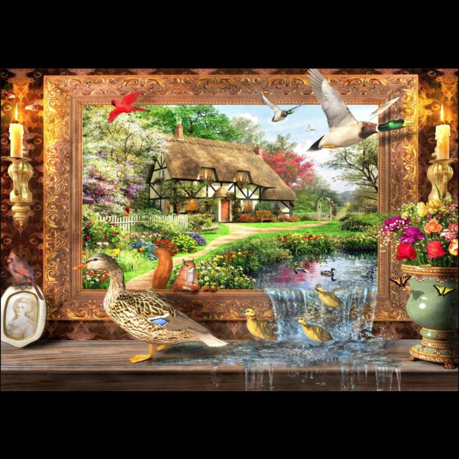 Leven rond de cottage - puzzel van 1500 stukjes-1