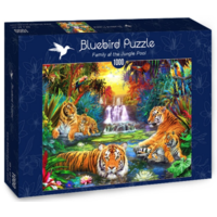 thumb-Tijgerfamilie in de jungle  - puzzel van 1000 stukjes-2