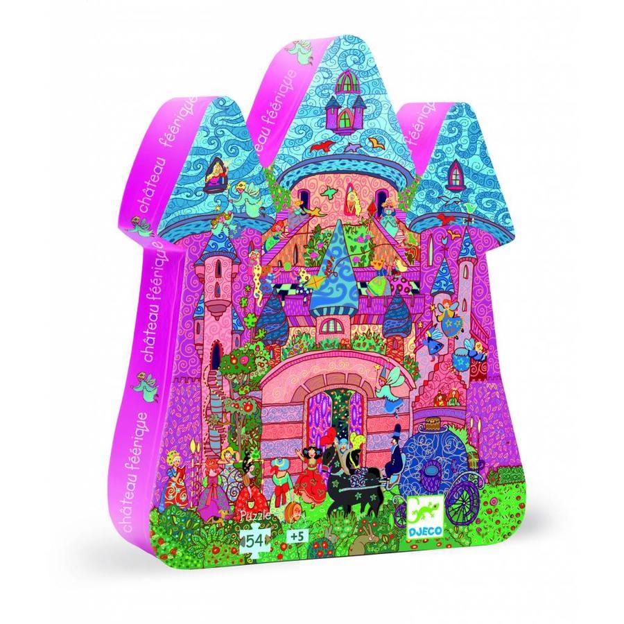 Château de conte de fées - Puzzle de 54 pièces-1