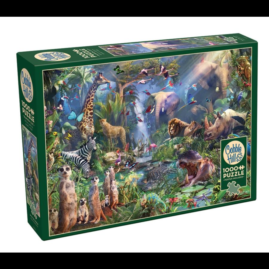 In de jungle  - puzzel van 1000 stukjes-2