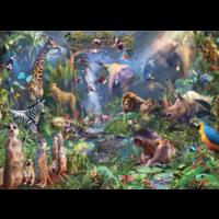 thumb-In de jungle  - puzzel van 1000 stukjes-1