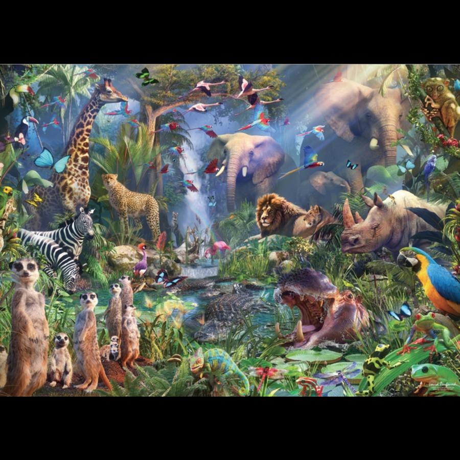 In de jungle  - puzzel van 1000 stukjes-1
