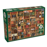 thumb-La bibliothèque des chats - puzzle de 1000 pièces-2