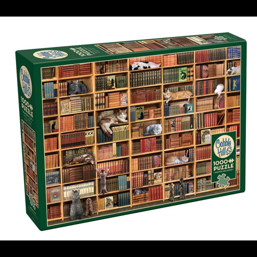La bibliothèque des chats - puzzle de 1000 pièces-2