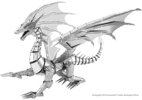 Metal Earth Silver Dragon - Iconx puzzle 3D