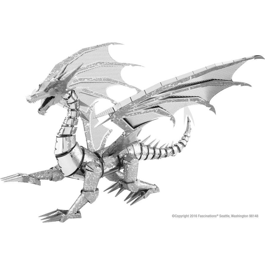 Silver Dragon - Iconx 3D puzzel-1