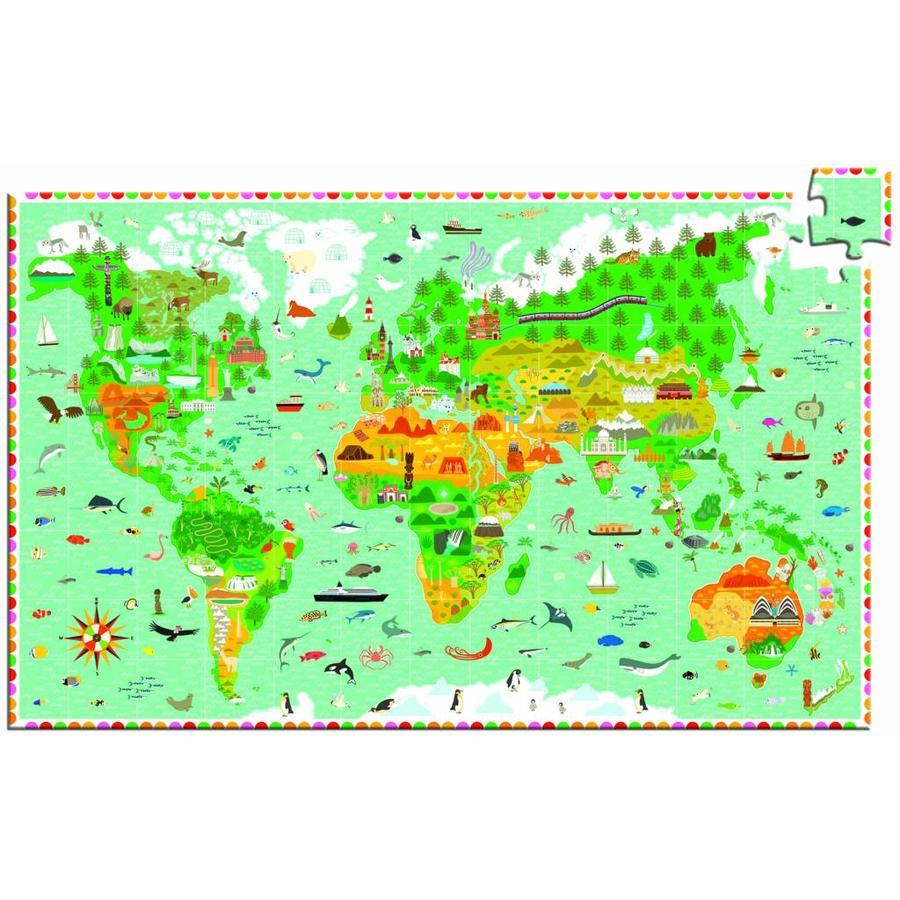 Plus d'une carte du monde - casse-tête de 200 pièces-3